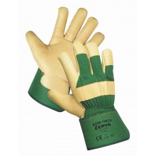 Pracovné rukavice ROSE FINCH zelené pánske