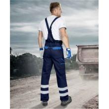 Reflexné nohavice s náprsenkou COOL TREND modré