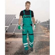 Reflexné nohavice s náprsenkou COOL TREND zelené