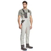 MONTROSE nohavice s náprsenkou biela/sivá