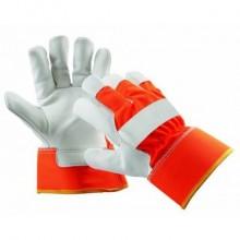 "Pracovné rukavice CURLEW WINTER oranžové ""HI VIS"""