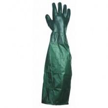Pracovné rukavice UNIVERSAL 65 cm zelené