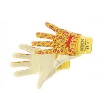 Bavlnené rukavice s PVC terčíkmi FUNKY FRUIT oranžové č. 8