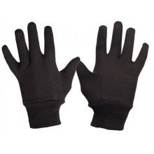 Pracovné rukavice bavlnené z teplákoviny FINCH hnedé