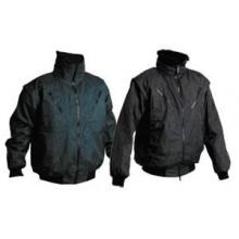 Zateplená nepremokavá bunda PILOT 3v1 tmavomodrá