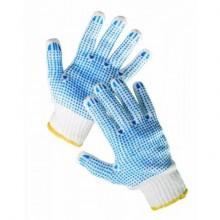 Pracovné rukavice s terčíkmi z PVC QUAIL č.10