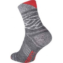 OWAKA ponožky sivá/červená