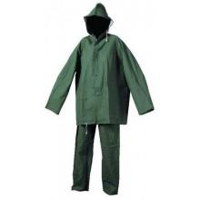 Ochranný dvojdielny oblek s kapucňou HYDRA zelený