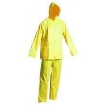 Ochranný dvojdielny oblek s kapucňou HYDRA žltý