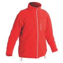 Fleecová bunda KARELA červená