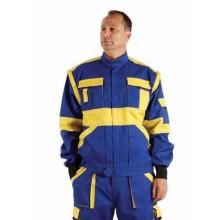 Pánska bundokošeľa MAX 2v1 modro-žltá DOPREDAJ