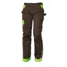 YOWIE dámske nohavice hnedá/zelená