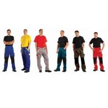 Nohavice do pása MAX červeno-čierne