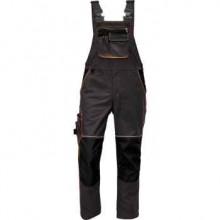 KNOXFIELD nohavice s náprsenkou antracit/červená