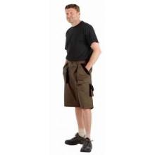 Krátke nohavice MAX kaki-čierne