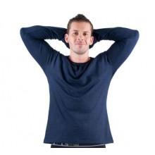 Tričko s dlhým rukávom CAMBON tmavomodré